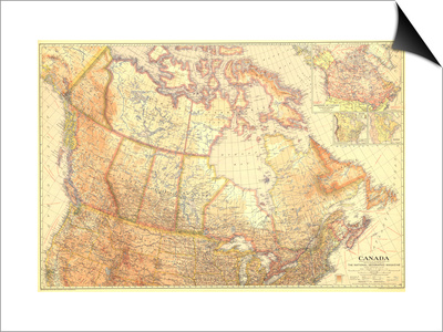 1936 Canada Prints by  National Geographic Maps