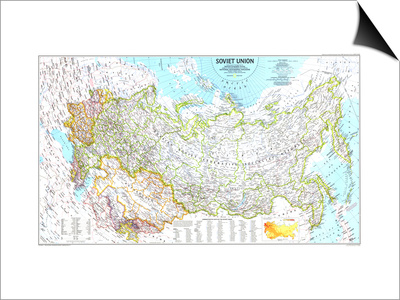 1990 Soviet Union Map Prints by  National Geographic Maps