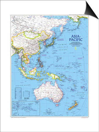 1989 Asia-Pacific Map Print by  National Geographic Maps