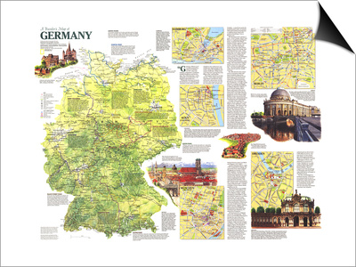 1991 Travelers Map of Germany Prints by  National Geographic Maps