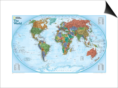 World Explorer Map Posters by  National Geographic Maps