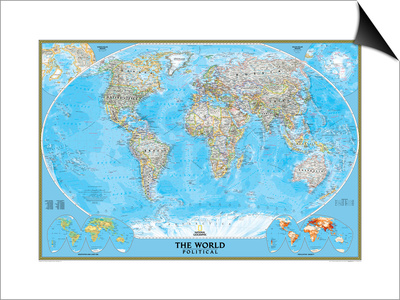World Political Map Print by  National Geographic Maps
