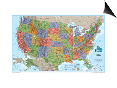 United States Explorer Map Prints by  National Geographic Maps