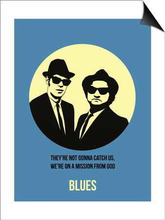 Blues Poster 2 Art by Anna Malkin