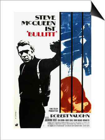 Bullitt, German Movie Poster, 1968 Posters