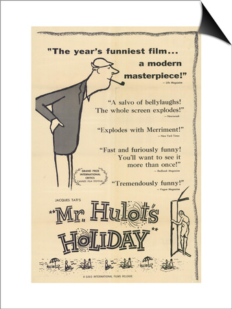 Mr. Hulot's Holiday, 1953 Prints