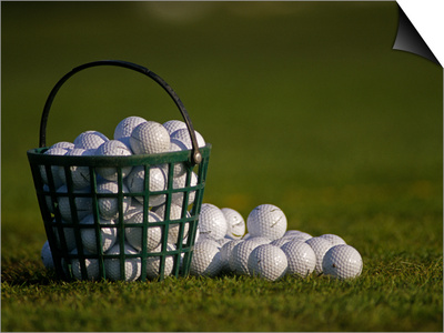 Basket of Golf Balls Print