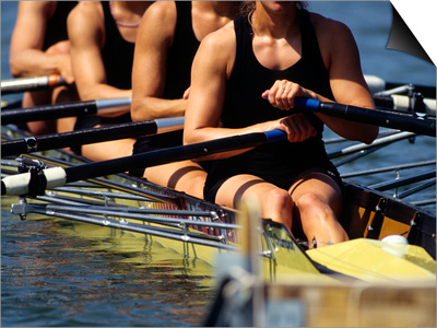 Detail of Women's Rowing Team Posters