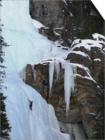 Lake Louise, Ice, Rock Climbing Posters by Keith Levit