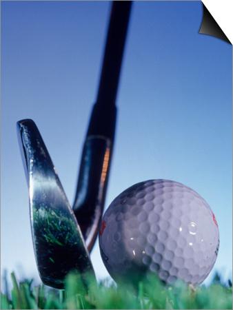 Golf Ball and Tee Prints by Matthew Borkoski