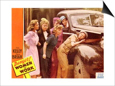Danger! Women at Work, 1943 Print