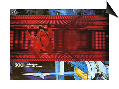 2001: A Space Odyssey, German Movie Poster, 1968 Posters