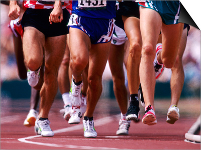 Detail of Runners Legs Competing in a Race Prints