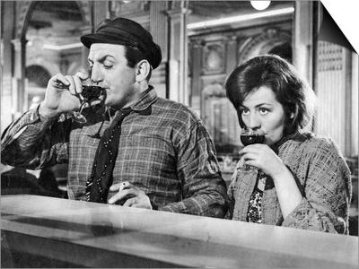 Annie Girardot and Lino Ventura: Le Bateau D'Emile, 1962 Print by Marcel Dole