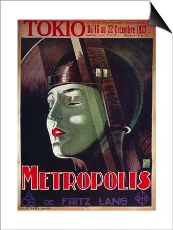 Metropolis, French Movie Poster, 1926 Prints