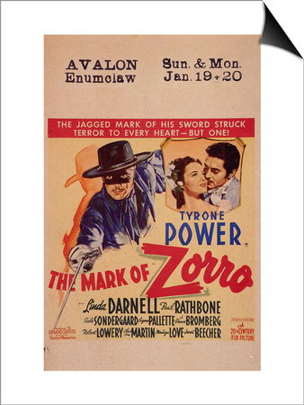 The Mark of Zorro, 1940 Posters