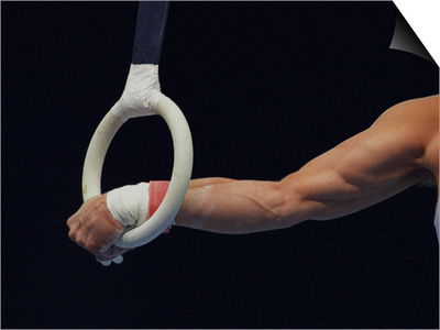 Detail of the Hands of Male Gymnast Grabing the Ring Posters by Paul Sutton