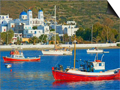 Katapola Port, Amorgos, Cyclades, Aegean, Greek Islands, Greece, Europe Prints by  Tuul