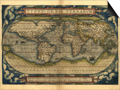 Ortelius's World Map, 1570 Prints by Library of Congress