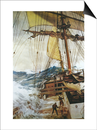 Rising Wind Posters by Montague Dawson