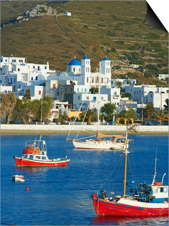 Katapola Port, Amorgos, Cyclades, Aegean, Greek Islands, Greece, Europe Print by  Tuul