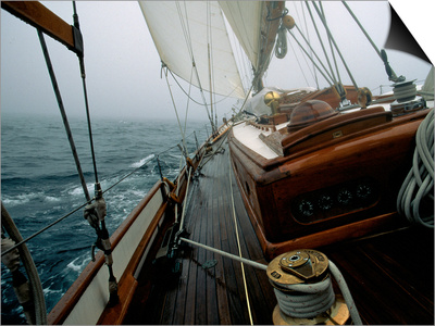 Sailing in Stormy Weather, Ticondergoa Race Prints by Michael Brown!