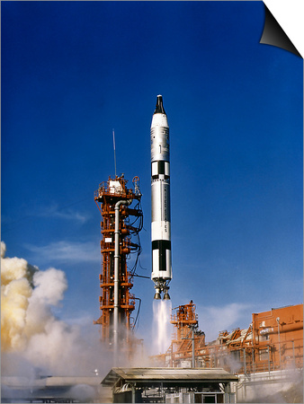 Gemini 12 Astronauts Lift Off Aboard a Titan Launch Vehicle Poster by Stocktrek Images