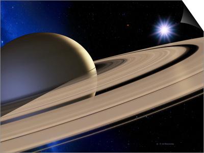 Saturn's Rings Print by Detlev Van Ravenswaay!