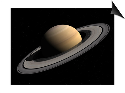 Artist's Concept of Saturn Prints by  Stocktrek Images