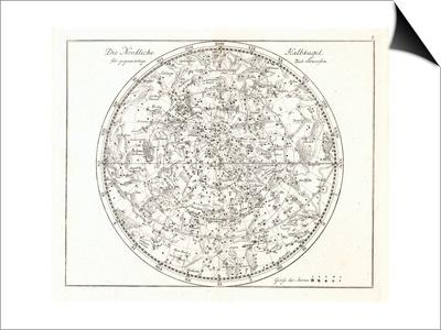 Star Map, 1805 Art by Detlev Van Ravenswaay