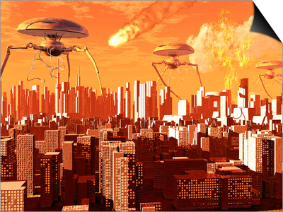 War of the Worlds Posters by  Stocktrek Images