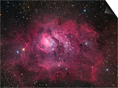 The Lagoon Nebula Prints by  Stocktrek Images