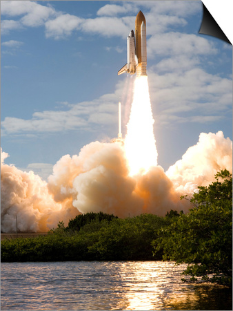 Space Shuttle Atlantis Lifts Off from its Launch Pad at Kennedy Space Center, Florida Prints