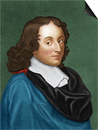 Blaise Pascal, French Mathematician Print by Maria Platt-Evans