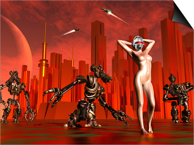 Artist's Concept of a Hot Pinup Pleasure Droid of the Future Posters by  Stocktrek Images