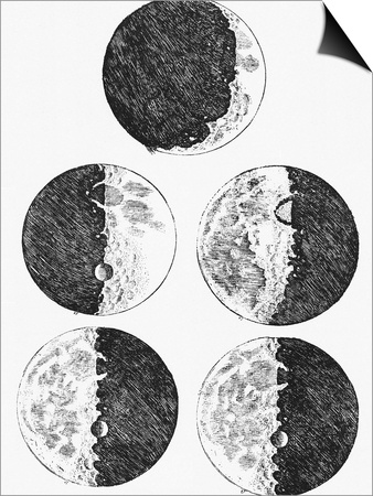 Galileo's Drawings of the Phases of the Moon Prints by  Stocktrek Images