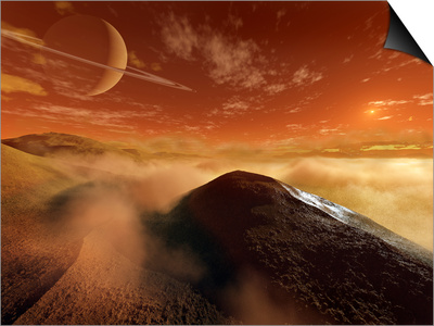 Dark Dunes are Shaped by the Moon's Winds on the Surface of Titan Art by  Stocktrek Images