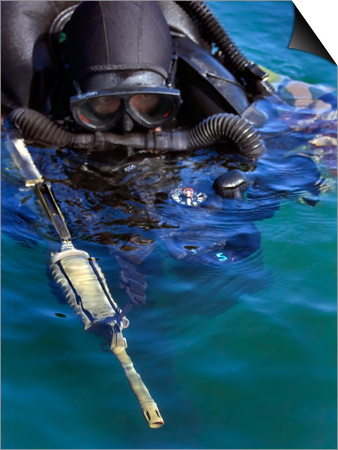 Navy Seal Combat Swimmer Posters by  Stocktrek Images