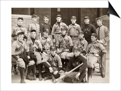 Baseball: West Point, 1896 Print