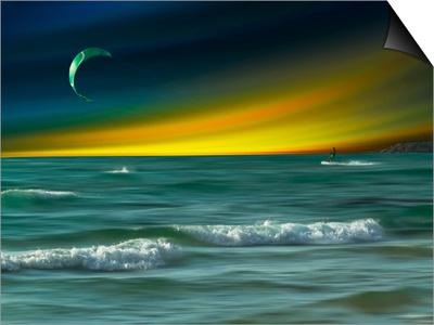 Green Surfer Poster by Josh Adamski