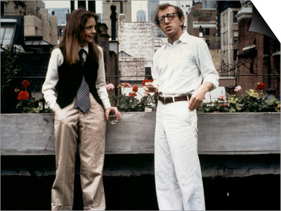 Annie Hall 1977 Directed by Woody Allen Diane Keaton and Woody Allen Print