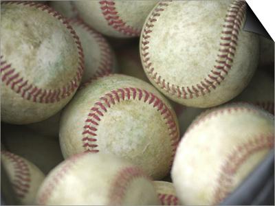 Close-up of Baseballs Print