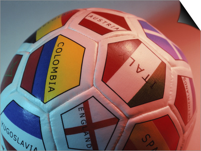 Close-up of a Soccer Ball Posters
