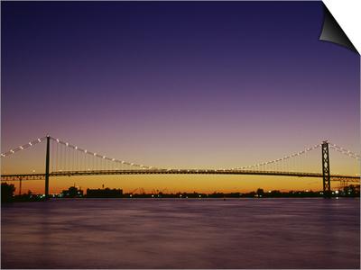 Ambassador Bridge Detroit, Michigan, USA Posters
