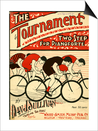 "Sheet Music Covers: ""The Tournament"" Composed by Dan J. Sullivan, 1899 Posters"
