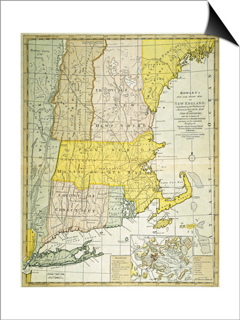 New England Map, C1775 Posters
