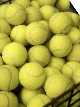 Basket of Tennis Balls Posters