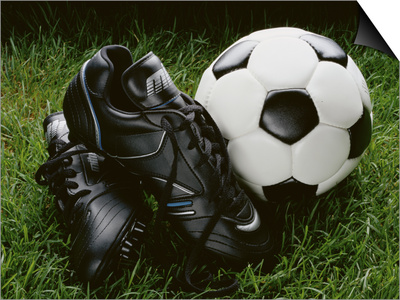 Soccer Still Life Poster