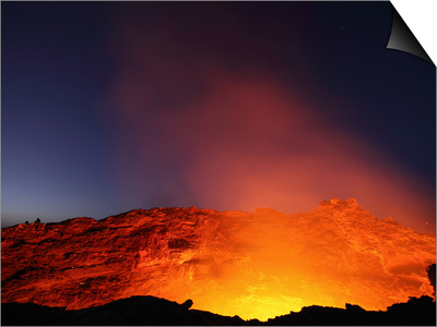 Erta Ale Volcano Lava Lake in the Incandescent Glowing Crater, Ethiopia Posters by Richard Roscoe