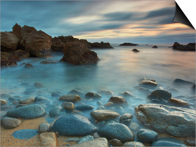 Waves Eroding the Rocks and Cobblestones on the Rocky Big Sur Coast of Central California, USA Prints by Patrick Smith